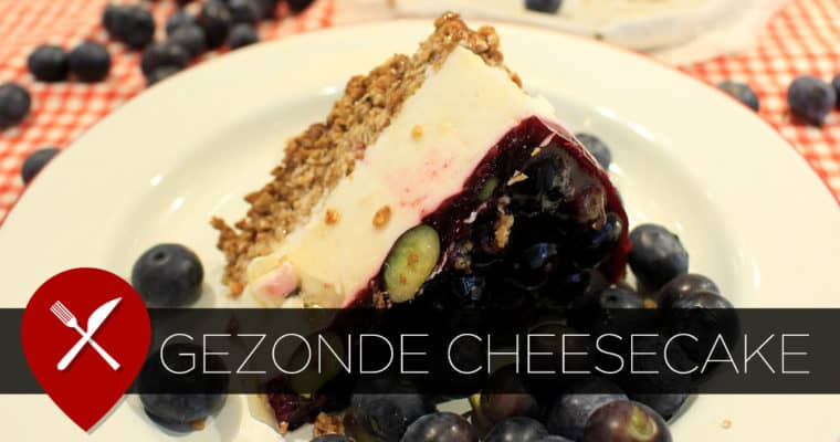 Gezonde blueberry cheesecake
