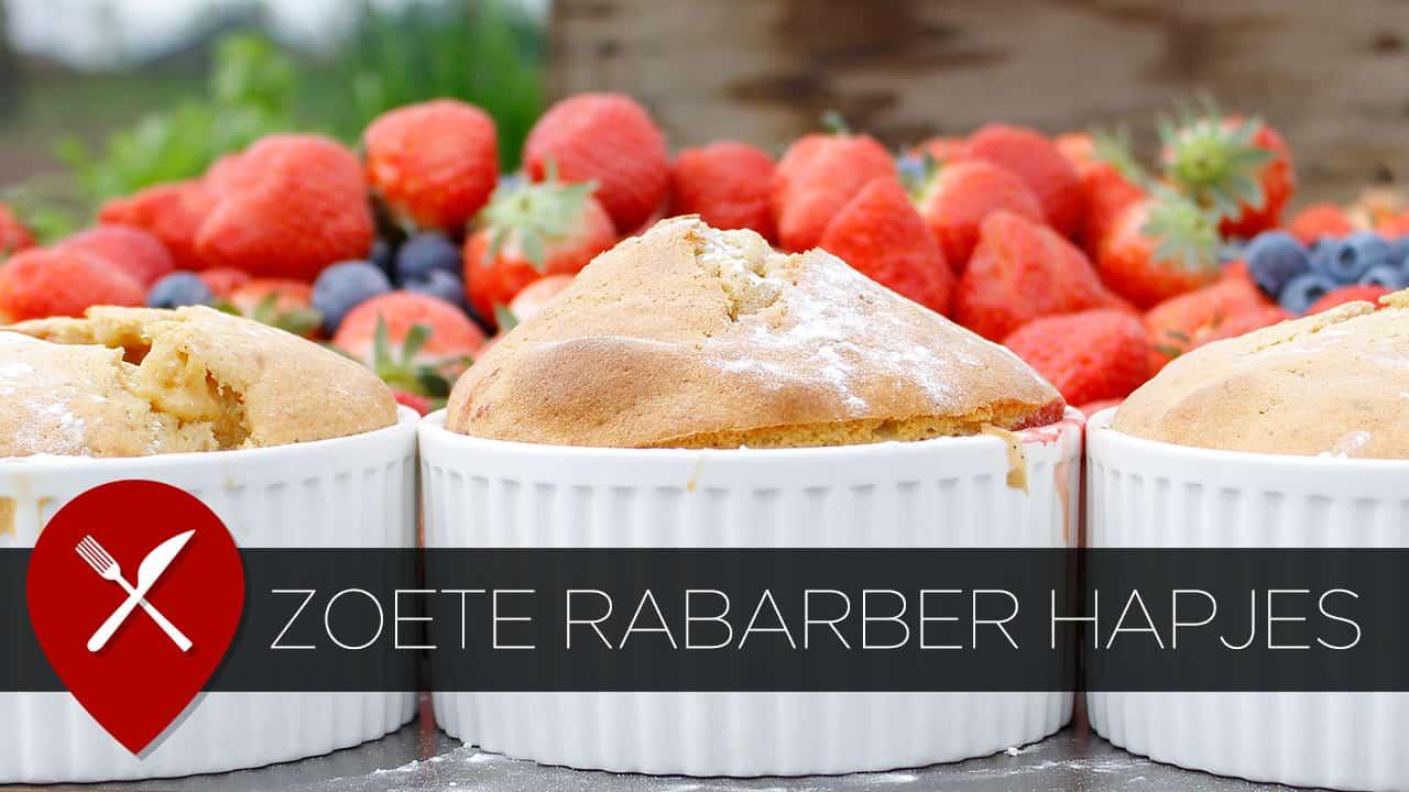 Recept: zoete high tea hapjes met rabarber