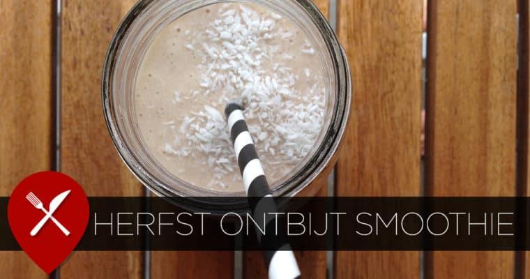 Lekkere herfst ontbijt smoothie