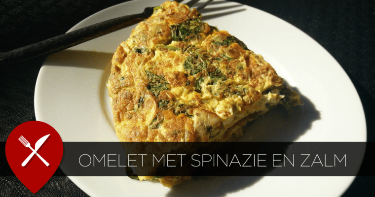 Energieboost: omelet met spinazie en zalm