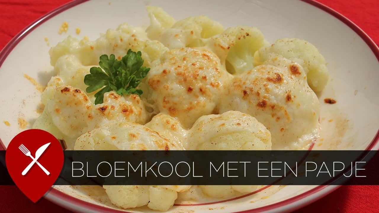 Bloemkool met béchamelsaus en gruyère kaas