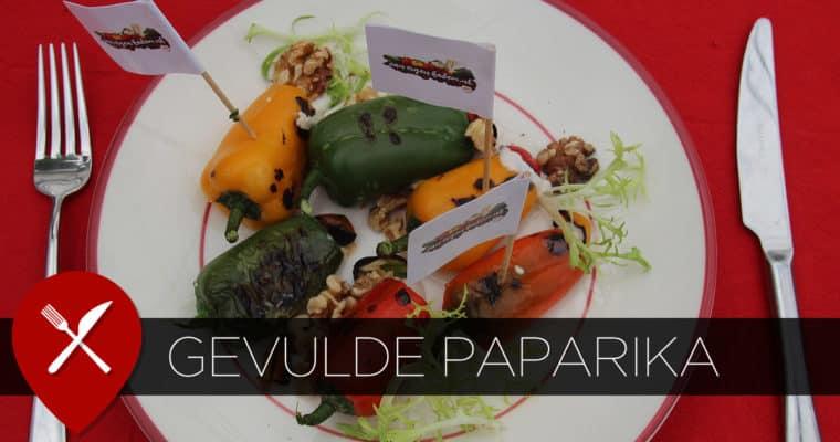 Gegrilde paprika's met geitenkaas mousse