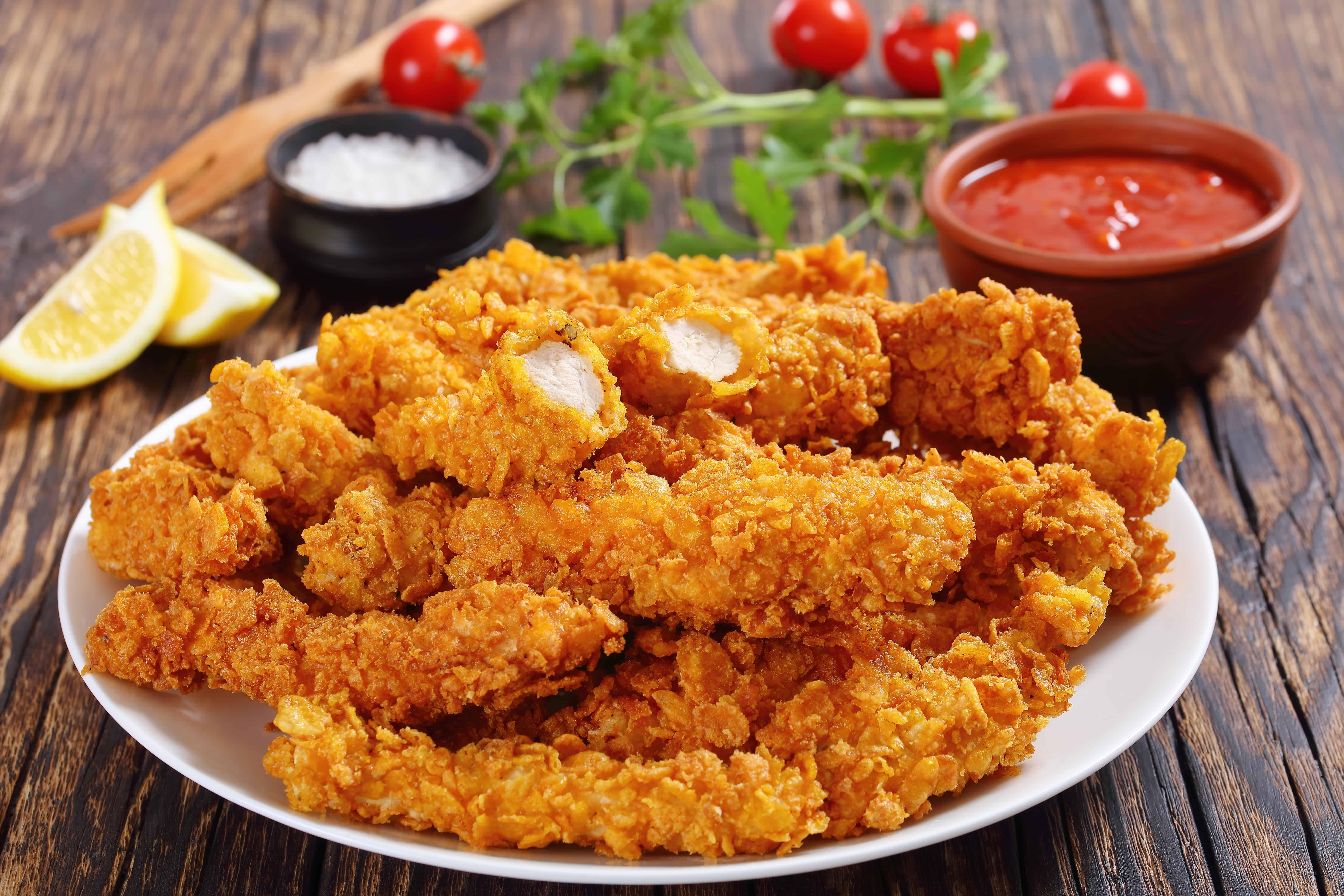 zelfgemaakte kipnuggets